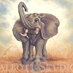 Painting of an Elephant by Eugenia Talbott